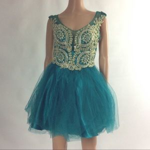 New Women's Embellished Tulle Embroidered Glitter